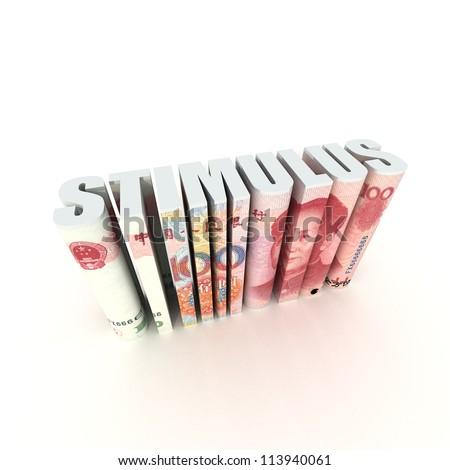 China Economic Stimulus - stock photo