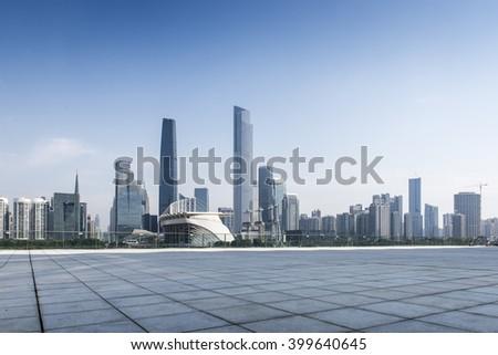 China Guangzhou City Construction - stock photo