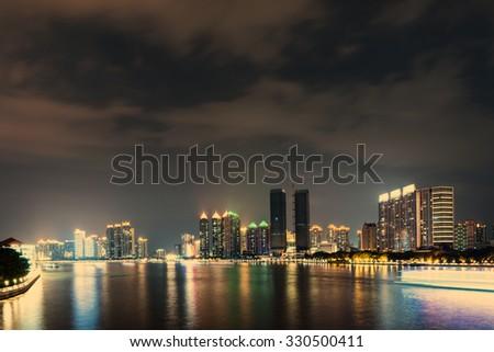 China Guangzhou landscape in china - stock photo