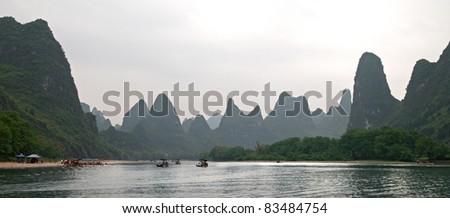 China, Guilin, river Li, summer, 2011. - stock photo
