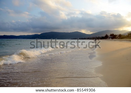 China, Hainan; Sanya, Yaluvan Bay, may 2011 - stock photo
