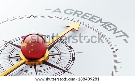 China High Resolution Agreement Concept - stock photo