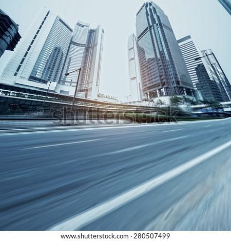 China, Hong Kong Hennessy road - stock photo