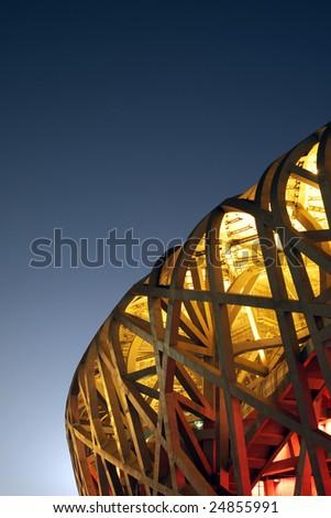 China National Olympic Stadium as known as Bird's Nest - stock photo