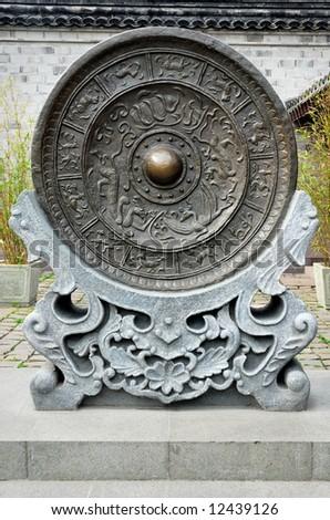 China Ningbo ancient gong - stock photo
