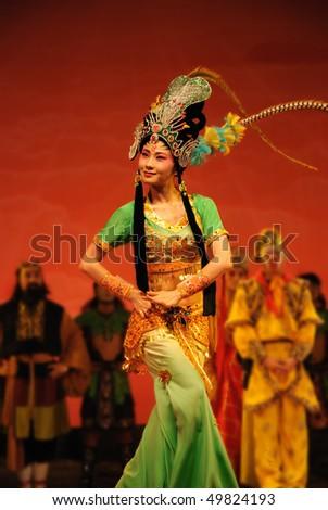 china opera Iron Fan Princess - stock photo