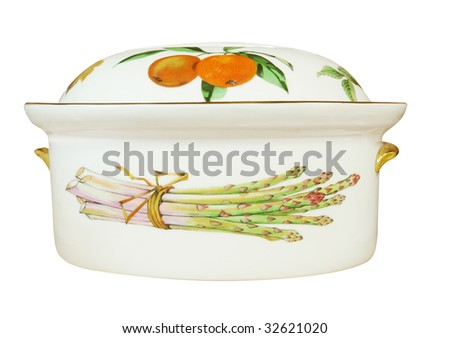 China Oven Dish isolated with clipping path.