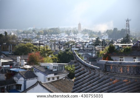 China's ancient city of Dali   - stock photo