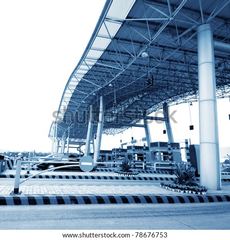 China's highway toll and vehicle - stock photo