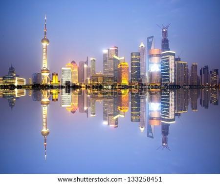 china shanghai 2013 - stock photo