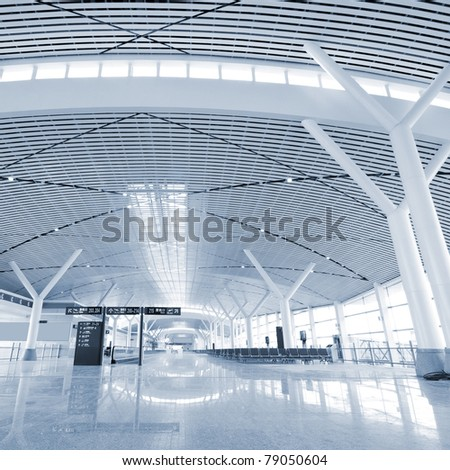 China, Shanghai Pudong International Airport - stock photo