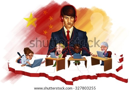 China Spying - stock photo