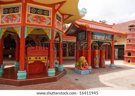 china temple - stock photo
