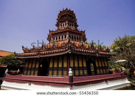 China temple in Thailand - stock photo