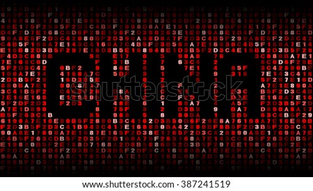 China text on hex code illustration - stock photo
