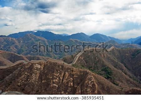 China the great wall at Badaling. - stock photo