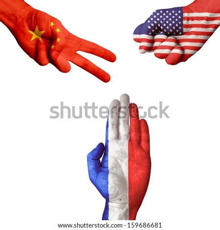 China USA France rock-paper-scissors