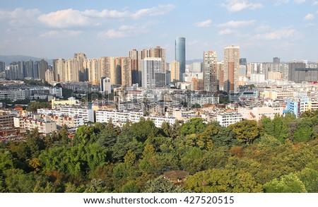 China. Yunnan Province. Kunming. - stock photo