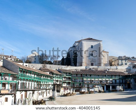 Chinchon - famous historic village near to Madrid, Spain - stock photo