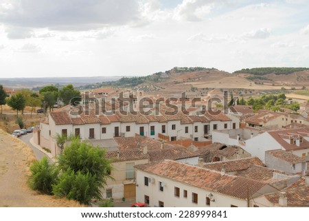 Chinchon town view in spain