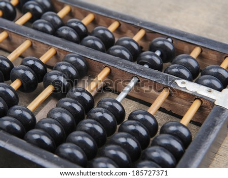 Chinese abacus mean symbols of wealth and prosperity - stock photo