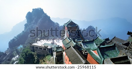 Chinese ancient building - stock photo