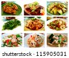 Chinese and Thai food Photographs Collection. - stock photo