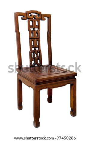 Chinese antique chair - stock photo