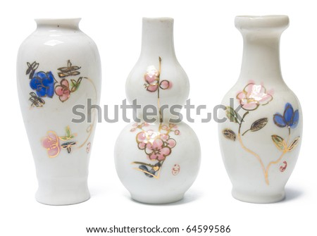 Chinese Antique Vase, Clipping Path Included - stock photo