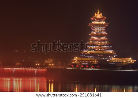 chinese architecture,Buddhist pagoda - stock photo
