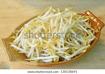 Chinese beansprout background or texture image. - stock photo