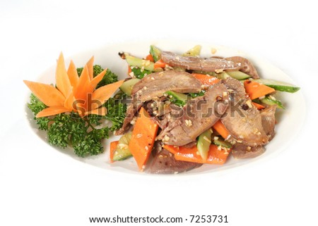 Chinese beef with vegetables - stock photo
