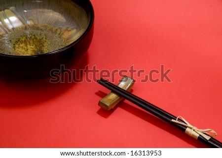 chinese bowls - stock photo