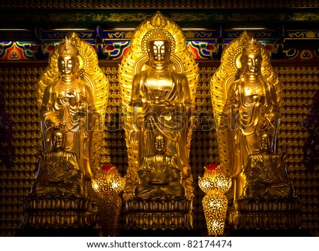 chinese buddha statue - stock photo