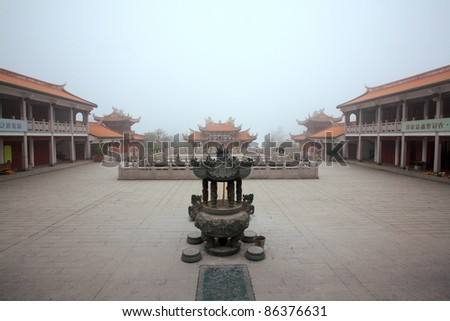 chinese buddhism temple in macau - stock photo