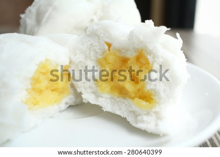 Chinese bun - dim sum - stock photo