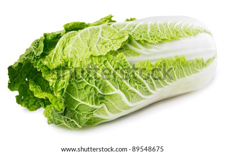 chinese cabbage isolated on white - stock photo