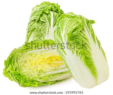 chinese cabbage on a white background - stock photo