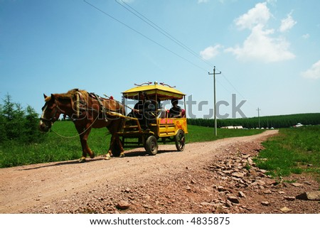 chinese carriage - stock photo