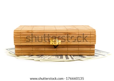Chinese casket isolate on the white