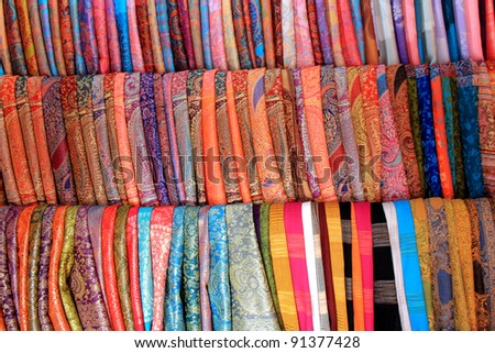 chinese clothe background - stock photo
