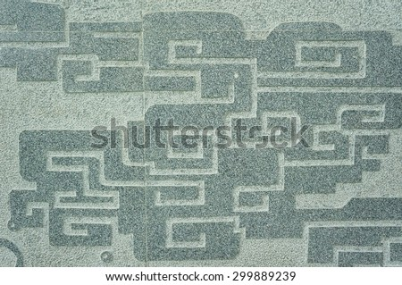 Chinese cloud texture on the wall - stock photo