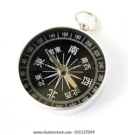 Chinese compass isolated on white background - stock photo