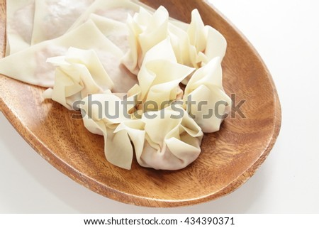 Chinese cooking, dumpling wanton - stock photo