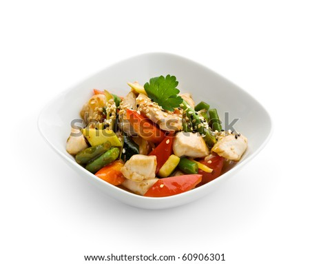 Chinese Cuisine - Chicken with Vegetables - stock photo