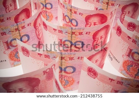 Chinese currency (Renminbi) isolated - stock photo