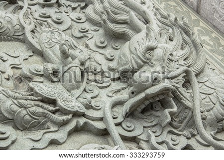 Chinese Dragon in temple ,Thailand