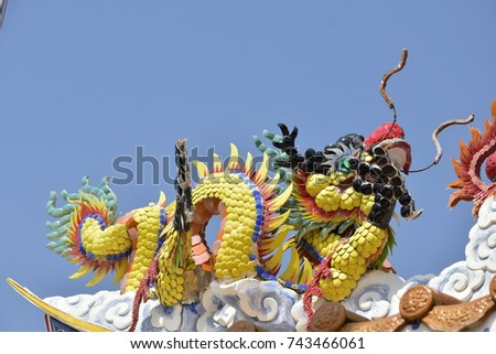 Chinese Dragon yellow and nature