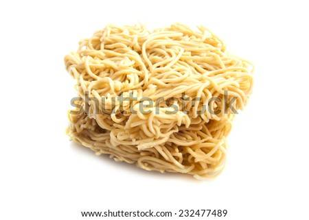 Chinese dried mie isolated on a white background