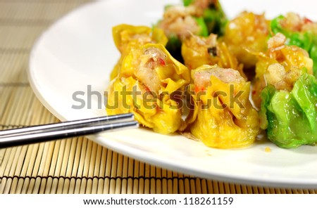 Chinese dumpling - stock photo